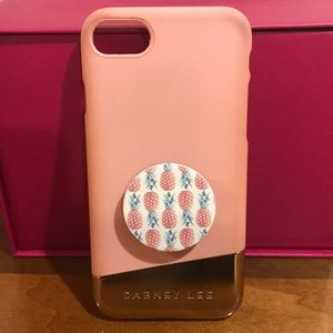 iPhone 7 pink and gold phone case!